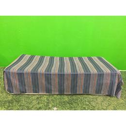 Sinine sametiga täispikk voodikate (kasutatud)