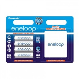 Eneloop Patarei Ready To Use Rechargeable Battery 4x AA (1900mAh) with plastic box