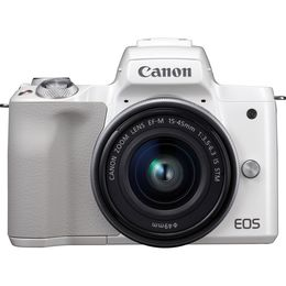 Canon EOS M50 + EF-M 15-45mm IS STM White