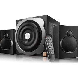 Fenda  Multimedia Bluetooth Speakers F&D A521X Bluetooth 4.0 (2.1 Channel Surround, 16Wx2+20W (RMS), 120Hz-20kHz, Subwoofer: 20Hz-120Hz, USB reader, Wooden, Black)