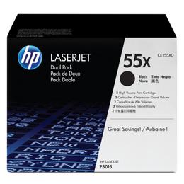 HP toonerkassett CE255XD Black Dual Pack