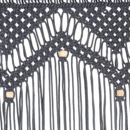 vidaXL makrameekardin, antratsiithall, 140 x 240 cm puuvill 323992