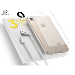Dux Ducis Dux Ducix 3 in 1 Set / Ultra Back Case 0.3 mm / Tempered Glass 9H / Micro USB Data Cable 90 cm White / For Huawei P10 Lite