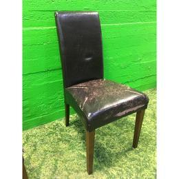 Pehme tumepruun tool kulunud nahkkattega (kasutatud)
