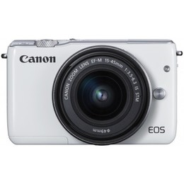 Canon  EOS M10 + 15-45mm IS STM Kit White