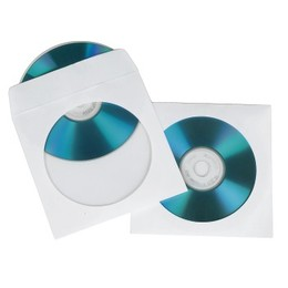 Hama Ümbrikud CD/DVD Paper Sleeves pack of 50 White (62671)
