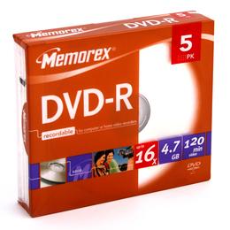 Memorex DVD-R 4,7GB 16X õhukeses karbis