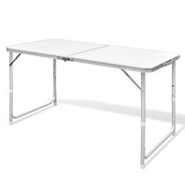 vidaXL  Kokkupandav alumiiniumist matkalaud 120 x 60 cm