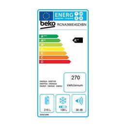 Beko RCNA366E40ZXBN A++ NoFrost külmik