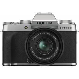 Fujifilm X-T200 mikrosüsteemi kaamera, hõbedane + 15 - 45 mm objektiiv