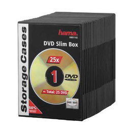 Hama CD/DVD karp DVD Slim Box 25 Black (659846)