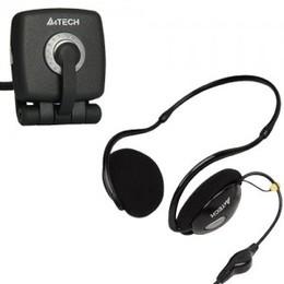 A4Tech Veebikaamera mikrofoniga  PK836MJ+stereokõrvaklapid mikrofoniga  HS-26