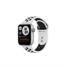 Apple Watch SE Nike GPS + Cellular 40mm Silver Aluminum Case with Pure Platinum/Black Nike Sport Band