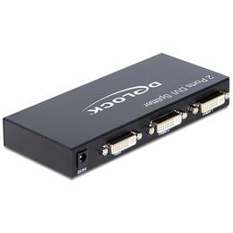 Delock DVI splitter, 2 porti, 1080p