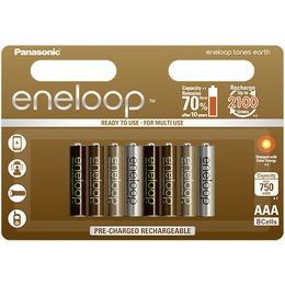 Panasonic Aku eneloop AAA 750 8UE Earth (BK-4MCCE/8UE)