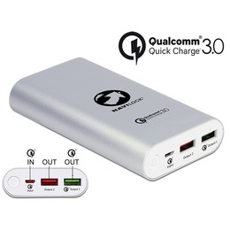 Delock Akupank 2x USB-A 6.5-12V / 1.25-3A, 10200mAh, Qualcomm Quick Charge 3.0