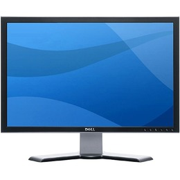 "Dell 24"" LCD Black, Pivot/ Wide, 1000:1, 450cd/ m, 6ms, DVI, S-Video, 4xUSB, Card reader"