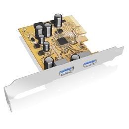 Raidsonic Icy Box USB 3.1 PCI-E expansion card koos 2x Type-A interface