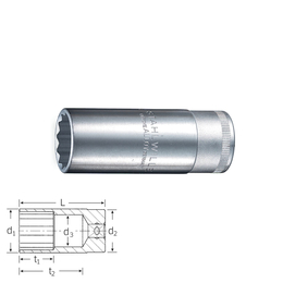 "Stahlwille Mutrivõti 03020021; 1/2""; 21 mm"
