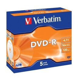 Verbatim DVD-R 4.7GB 16X matte silver jewel box