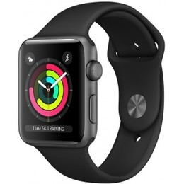 Apple  Watch Series 3 GPS 42mm Space Grey Aluminum Case with Black Sport Band