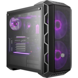 Cooler Master H500 RGB, Steel Body,tempered Glass, Iron Grey