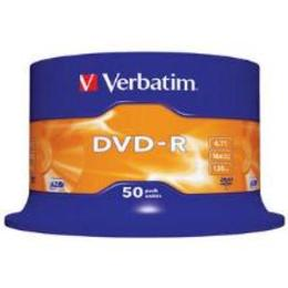Verbatim DVD-R 4.7GB 16X 50pack scratch resistant surface cake box