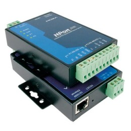 MOXA 1 x  ja 1 x RS-422/485 server, 0 kuni 55°C + toiteplokk