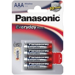 Panasonic  Everyday Power Alkaline AAA (LR03EPS), 4-pack