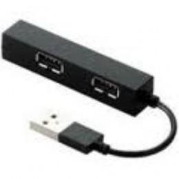 Elecom Studora Compact USB HUB, 4 Port, Black