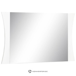 Valge Kõrgläikega Lai Peegel (Iluvigadega) (kasutatud)