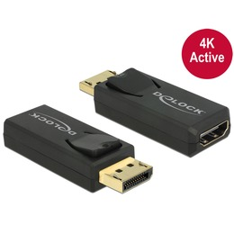 Delock Adapter Displayport (M) - HDMI (F) 4K@60Hz Active