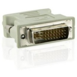 4World  DVI-I M - VGA F Beige