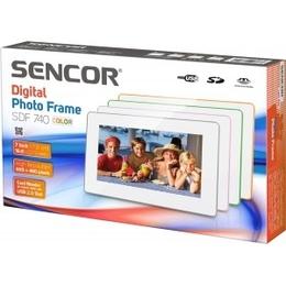 Sencor  digitaalne pildiraam SDF 740 GY, valge/hall