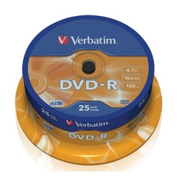 Verbatim DVD-R prinditav 4.7GB 16X 25pack scratch resistant surface cake box