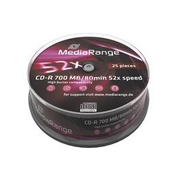 MediaRange CD-R 700MB/80min/52x, Cake 25