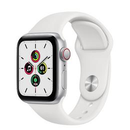 Apple Watch SE GPS + Cellular 40mm Silver Aluminum Case with White Sport Band