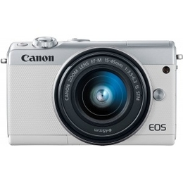 Canon EOS M100 + EF-M 15-45mm IS STM White