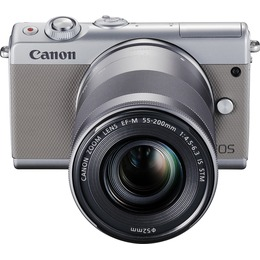 Canon EOS M100 + EF-M 15-45 + EF-M 55-200 Grey