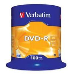 Verbatim DVD-R 16X 100pack scratch resistant surface cake box