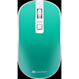 Canyon 2.4GHz Wireless Rechargeable Mouse with Pixart sensor, Aquamarine
