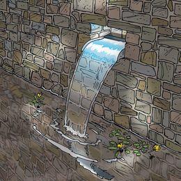 Ubbink Nevada veekose laba 30 cm roostevabast terasest, juga