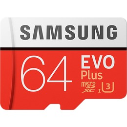Samsung microSDXC Card 64GB EVO Plus U3 UHS-I SD adapter kaasas