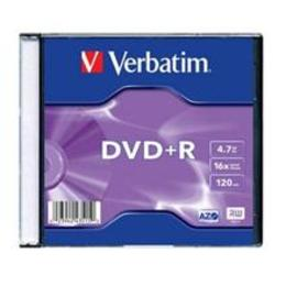 Verbatim DVD+R 4.7GB 16X slim box
