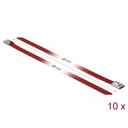 Delock Kaablisidemed 400x7,9mm, terasest, punased (10tk)