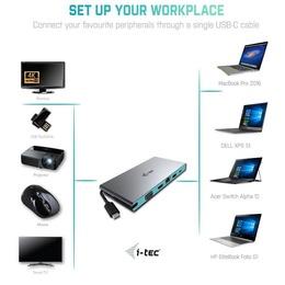 i-Tec USB-C Travel Stac ja Dokujaca HDMI/VGA/ET