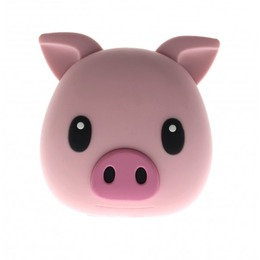 MojiPower Piggie Power Bank 1A / USB / 5200 mAh Pink