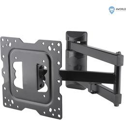 """4World teleri kinnitus Wall Mount for LCD 15-43"""" VESA 100/200 tilt/swivel load 40kg BLK"""