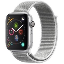 Apple Watch Series 4 GPS 44mm Silver Aluminum Case with Seashell Sport Loop
