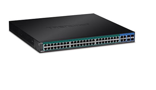 6e668a225ed TRENDnet PoE Switch: 48-Port Gigabit Web Smart PoE+,4 x jagatud Mini-GBIC  (SFP) pesa, räkitav